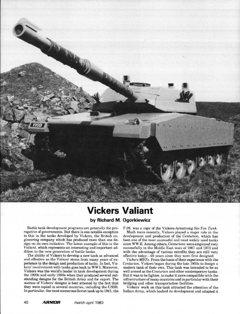 fccbf296b240 From the Vault  Vickers Valiant MBT – Tank and AFV News