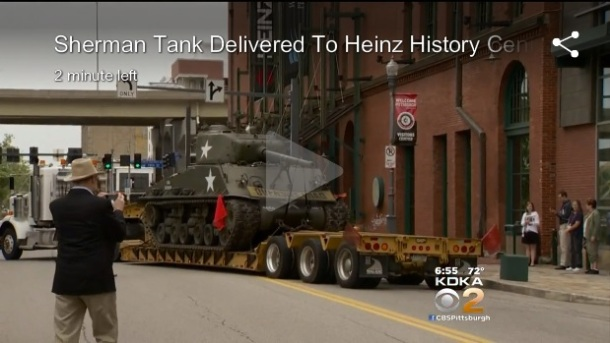 Sherman tank Heinz museum