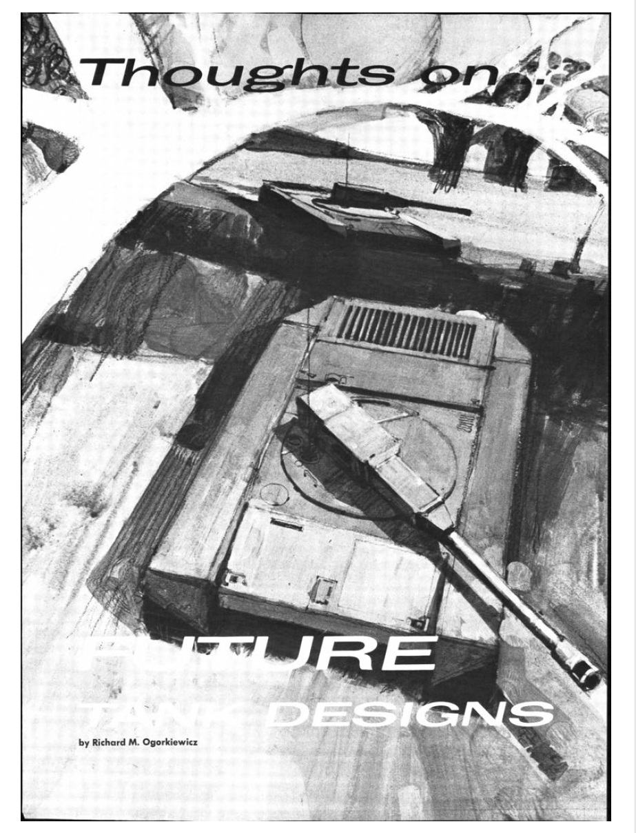 From The Vault Thoughts On Future Tank Design 1968 Tank