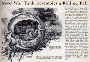 Novel War Tank Resembles a Rolling Ball (1936)