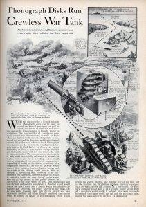 Phonograph Disks Run Crewless War Tank (1934)