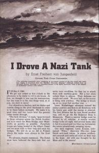 I Drove A Nazi Tank (1941)