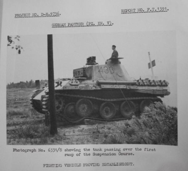 German Panther on suspension test