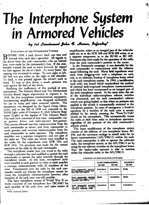 interphone systems in armored vehicles page 1