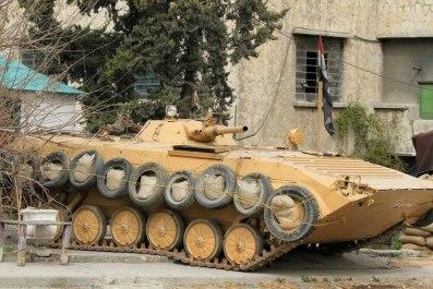 """BMP with tire/sandbag """"armor"""""""
