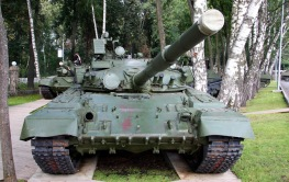 T-80B applique armour front view