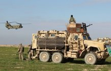 MRAP with machine gun