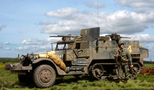 M2 HT with 37mm gun, 41st Arm Inf Regt Operation Cobra 1944