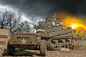M4 Crocodile 739th Tank Bn Julich Germany 1945