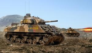 Marine M4A3 Iwo Jima