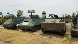 Several M113 with either a T113 or T117