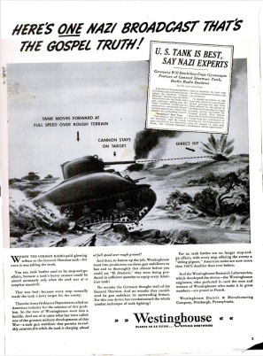 Westinghouse tank ad