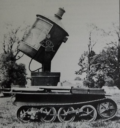 The carden loyd searchlight tank