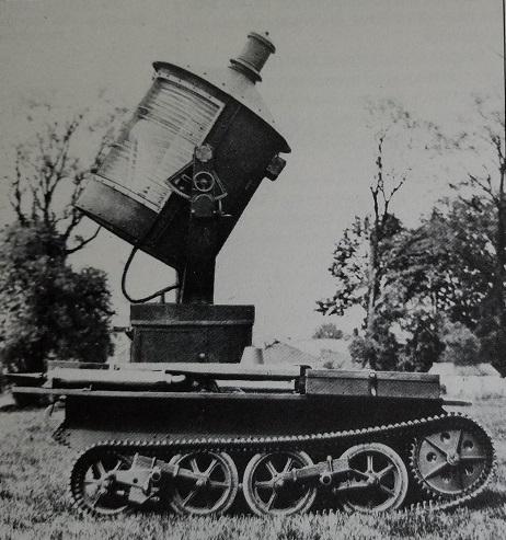 The carden loyd searchlight tank