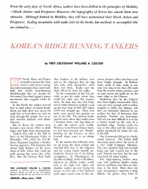 Korea's Ridge Running Tankers page 1